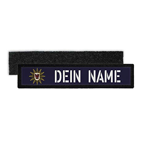 Copytec Patch Name Plate Police Brandenburg Velcro Stripes Personalised #36245