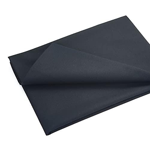 MasterFAB -Black 100% Cotton Fabric Poplin Fabric by The Yard for Sewing DIY Crafting Fashion Design Printed Floral Washable Cloth; 1 Piece Full Width cuttable 39 x 55 inches (100x140cm) (Black)