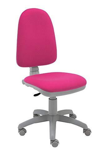 La Silla de Claudia - Silla de Escritorio giratoria Torino Gris ergonómica para Oficina y hogar con Contacto Permanente (Rosa Fucsia)