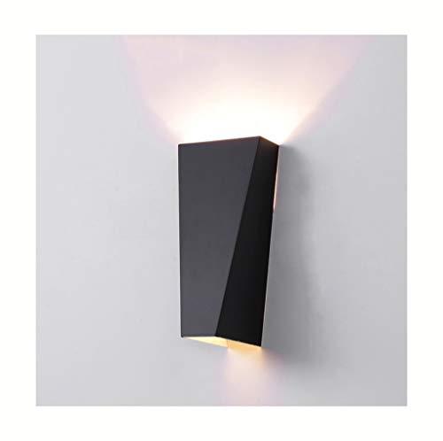 %Éclairage de chevet Lampe murale LED en fer forgé salon chambre salle à manger couloir escalier mur lumières (Couleur : NOIR-Lumière chaude)