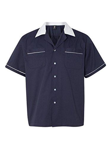 Hilton HP2244 GM Legend Bowlingshirt Gr. M, Marineblau/Weiß