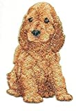 VirVenture 2 1/4' x 3 3/8' Golden English Cocker Spaniel Dog Breed Embroidery Patch Great for Hats, Backpacks, and Jackets.