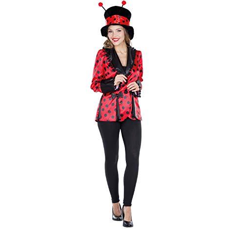 Rubie`s Disfraz de Mujer Mariquita Escarabajo Chaqueta Chaqueta de Abrigo Rojo-Negro Carnaval (48)