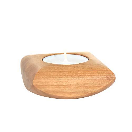 NKlaus 3er Set waxinelichthouder van hout zoete kerk decoratie kaarsenhouder tafeldecoratie 36404