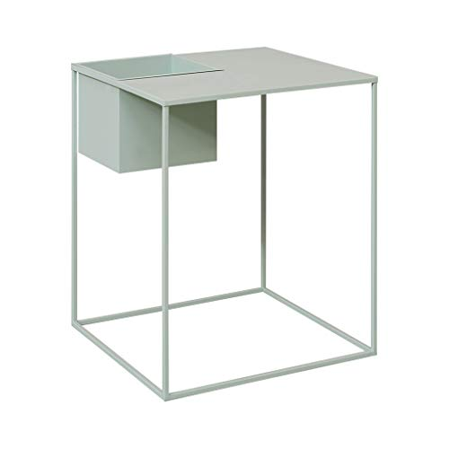 Kleine salontafel Rechthoekige Iron Klein vierkant Table moderne minimalistische bank in de woonkamer Side Table Green 17,7 × 17,7 × 17,7 inch (Color : Green, Size : 17.7×17.7×17.7 Inches)