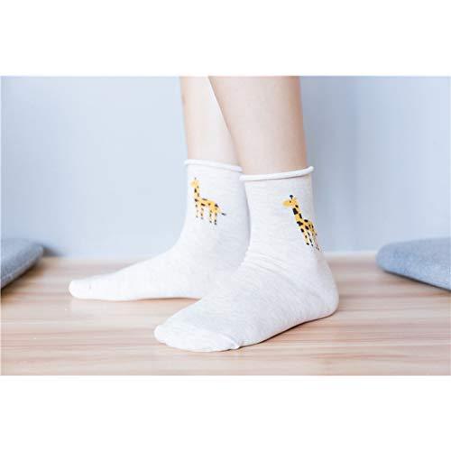 KANGDE Primavera Verano Mujer Calcetines Calcetines Algodón Transpirable In-Tube Calcetines Boca Suelta Calcetines Calcetines de Mujer ⭐