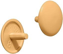 Gedotec Meubelafdekkappen beige RAL 1015 schroefafdekkingen kunststof schroefdop rond | H1123 | sluitstop voor kopgat PZ2...
