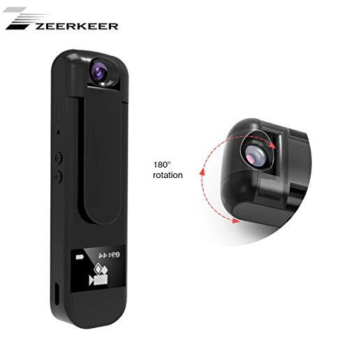 Zeerkeer Portable Vocal Recorder 1080P Rotary Camera 180 Graden MP3 Speler met Vocali Recordering Kan worden gebruikt voor Interferentie/Vergadering/Interviste, enz.