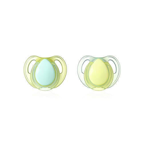 Tommee Tippee Cherry Latex Baby Soothers, 2 Pack, Multi-Color, 0-6M