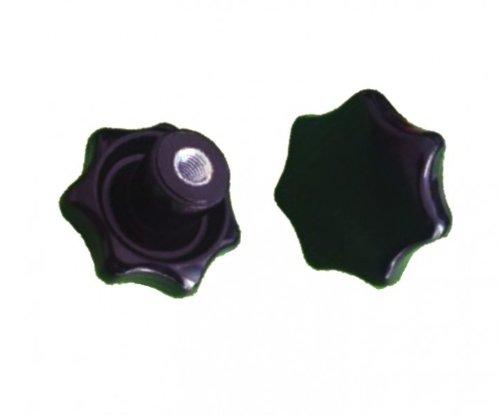 Étoile Poignée Mère Écrou M6 filetage acier din6336 K – Noir, Ø 32 mm – -- Quantité au choix