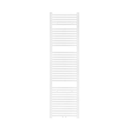 VILSTEIN Bad Heizkörper, Flach, Weiß, Seitenanschluss und Mittelanschluss, 1800x500 mm