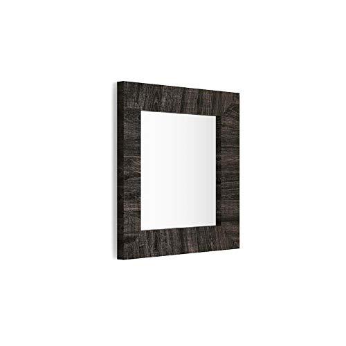 Mobili Fiver, Miroir Mural carré, Cadre Chêne Brown, Giuditta 65x65, Mélaminé/Verre, Made in Italy