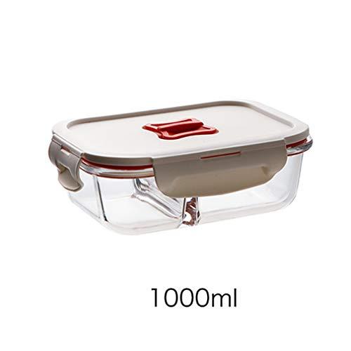 Juego de recipientes de vidrio de alta calidad para almacenar alimentos, contenedores de cristal, reutilizables, caja de almuerzo, caja fresca, apta para microondas y lavavajillas