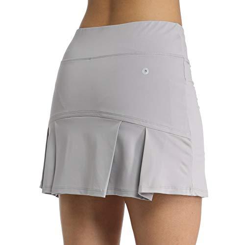 Geekbuzz Jupe de golf plissée pour femme avec poches et...
