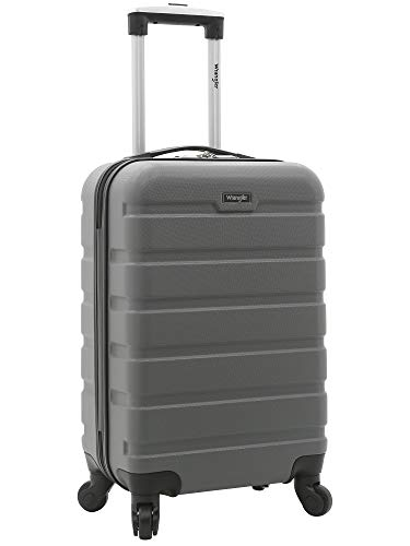 Wrangler 20' Hardside Spinner Carry On Luggage, Charcoal Grey