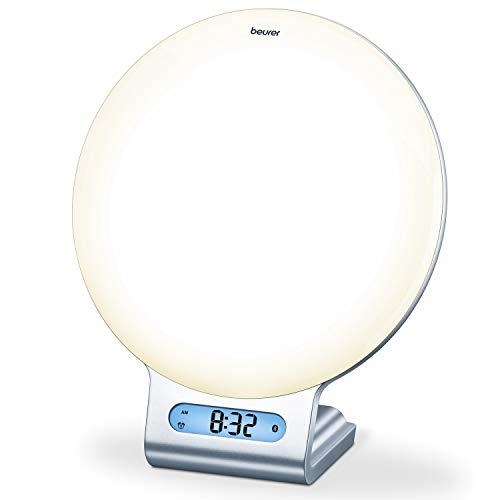 Beurer WL 75 Lichtwecker mit Radio, Simulation von Sonnenauf- und Untergang für ein leichteres Einschlafen und Aufwachen