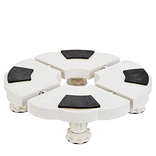 Praktisch apparaat Verrijdbare basis - Huishoudelijke airconditioningbasis - Verstelbare meubeldrager - Wasmachine, koelkast (maat: hoogte 10-114 cm)