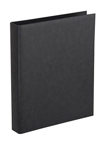 Herma 7559 - Álbum clásico con anillos, cuero, 265X315, color Negro
