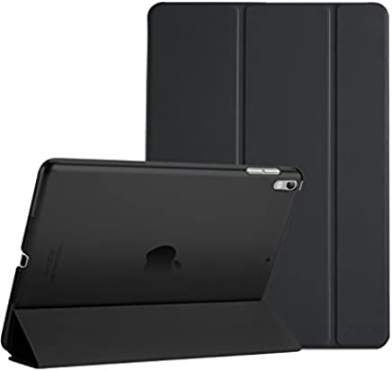 "ProCase iPad Air (3rd Gen) 10.5"" 2019 / iPad Pro 10.5"" 2017 Case, Ultra Slim Lightweight Stand Smart Case Shell with Translucent Frosted Back Cover for Apple iPad Air (3rd Gen) 10.5"" 2019 –Black"