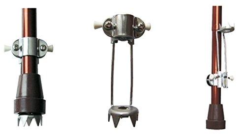 Eiskrallen-Set (2 Stück) für Gehstock, universal, 5 Spitzen, hochklappbar