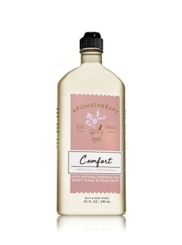 Bath and Body Works Aromatherapy Comfort Vanilla Patchouli Body Wash and Foam Bath 10 ounces