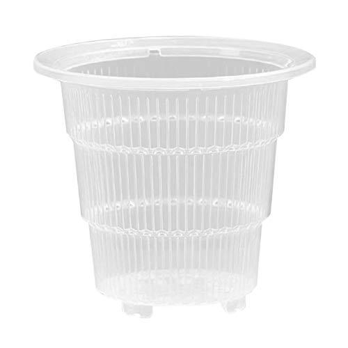 Benedict - Macetas de orquídea de plástico transparente con agujeros huecos transpirables para jardinería, jardín y hogar