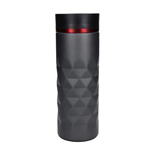 Premium Edelstahl Thermobecher 450ml Diamond 100% Auslaufsicher Isolierbecher Kaffeebecher to Go Autobecher Travel Mug - Isolierflasche Doppelwandig, Vakuum isoliert (Rot - Ohne Gravur)
