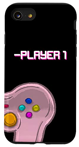 iPhone SE (2020) / 7 / 8 Player One Matching Controller Video Game Best Friend Gift Case