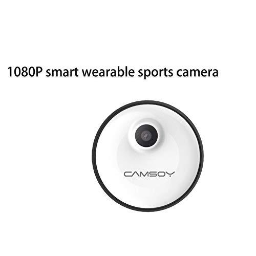 Zoiseo Action Cam, Bewegungserkennung, Eingebaute Hochleistungs-Polymer-Lithium-Batterie, Loop-Aufnahme, Größe 38 × 17 mm