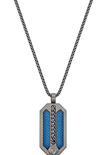 Police 32015085 - Cadena de metal, unisex, talla única, color gris