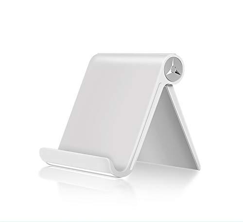 Soporte para Tablet, Soporte para móvil, Soporte para Todo típos de Dispositivos, Soporte Ajustable, Ideal para reglar… (Blanco)