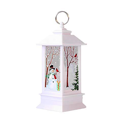 BaZhaHei Regalo di Natale,Decorazioni Natalizie per la casa Candela Natalizia a LED 1 pz con LED,Festa di Addobbi Natalizi (C, 13x5.5cm)