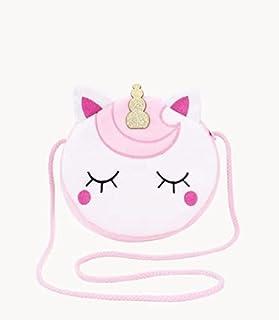 Unicorn Soft Velvet Round Sling Bag for Girl