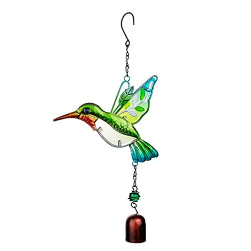 Wind Chimes Hummingbird Wind Bell Hanging Ornaments Handmade Home Party Decorations for Door Yard Garden Car Ornament, Birthday Christmas Gifts