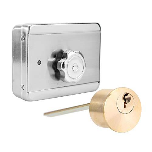Jingyig Cerradura de Puerta magnética, Cerradura de Puerta de 12V Cerradura magnética eléctrica, Inteligente para Puertas cortafuego Puertas de Metal