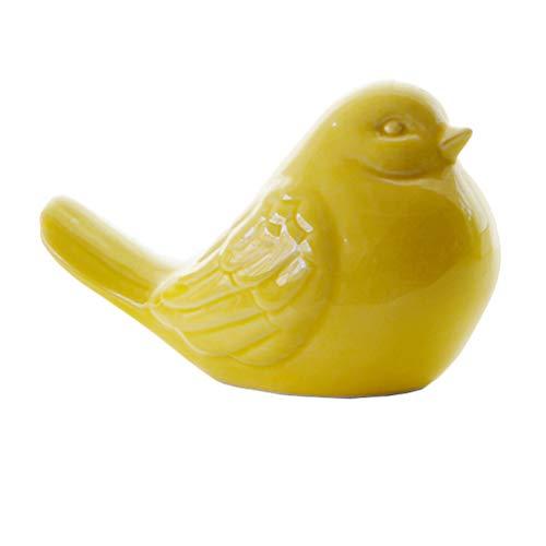 LOVIVER Garten Skulptur Vogel Tierfigur Deko Gartenfigur Vogelfigur Geschenke für Hochzeit, Geburtstag, Weihnachten, Gelb