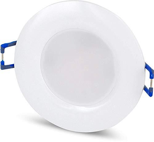 Spot LED IP44 encastrable rond ultra-plat - 230 V - 5 W - Diamètre : 68 mm - Transformateur LED intégré Moderne Tagesweiß (4000 K)