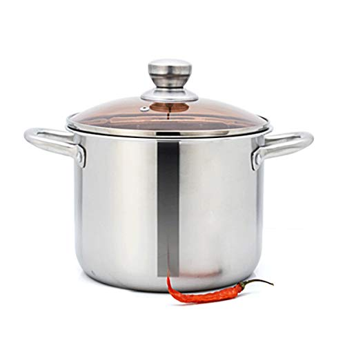 Muziwenju Soup Pot, 24CM, Thick Soup Pot, Deepen Thick Gas Induction Cooker Universal, Best Choice for Kitchen Utensils