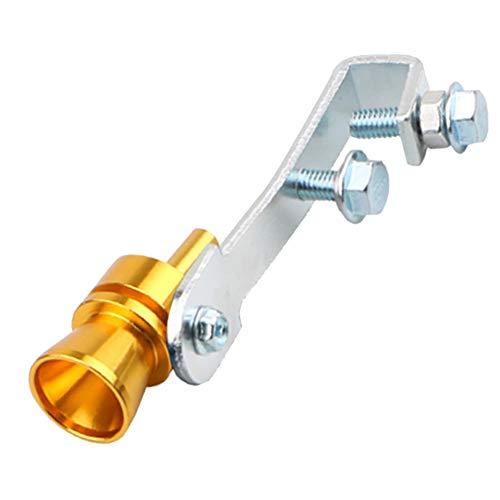 LIWENCUI- Tubo de escape de gran tamaño universal rugido fabricante de coches Simulador silbido Altavoz accesorios del coche (Color : Gold XL)