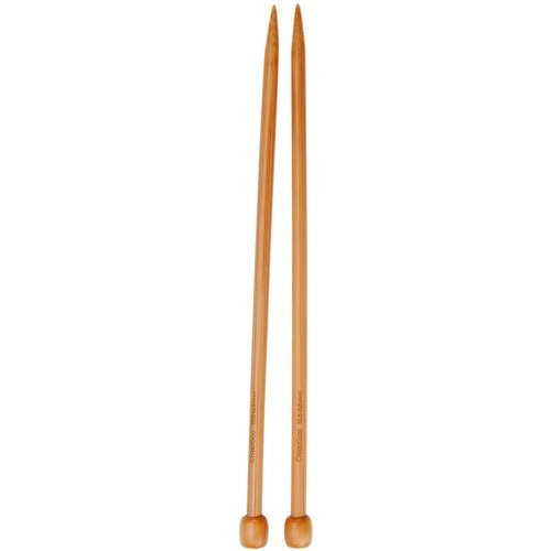 ChiaoGoo Single Point 13 inch (33cm) Bamboo Dark Patina Knitting Needle Size US 11 (8mm) 1033-11