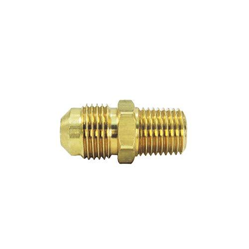 Nigo Industrial Co. Brass Tube Fitting, Half-Union, Flare x NPT Male Pipe (1, 3/8