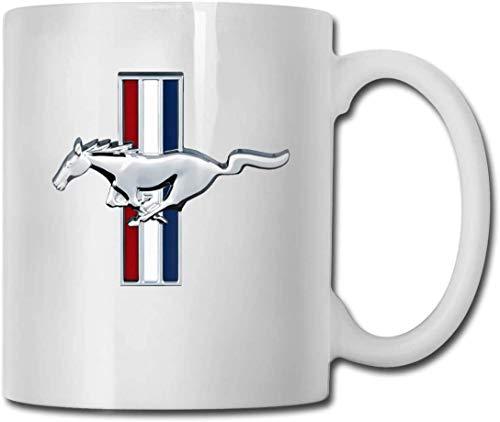 N\A 11 Unzen weiße Keramik Kaffeetasse Ford Mustang Tassen weiß