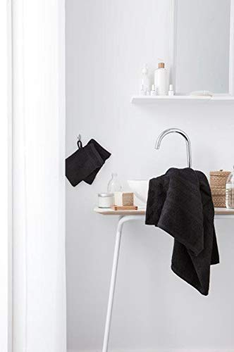 Today Lot de 2 Gants Coton, Noir, 21x16 cm
