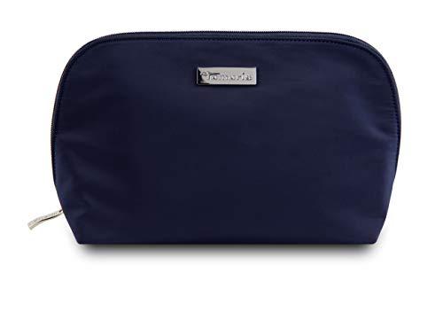 Tamaris Perfect Kleine Kosmetiktasche Damen für die Handtasche, Schminktasche Make Up Tasche mit Reißverschluss (M), Navy Blau