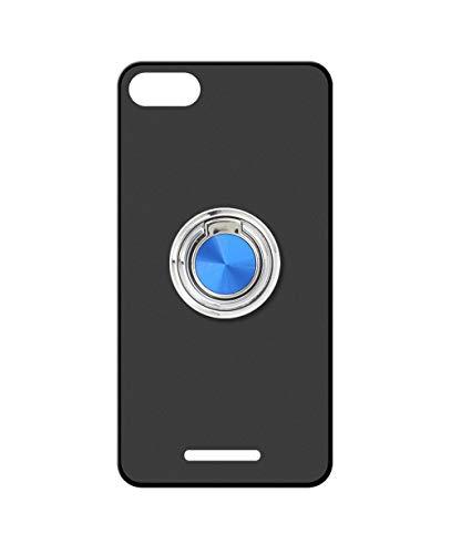 Sunrive Kompatibel mit WileyFox Spark X Hülle Silikon, 360°drehbarer Ständer Ring Fingerhalter Fingerhalterung Handyhülle matt Schutzhülle Etui Hülle (A2 Blau) MEHRWEG