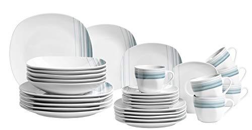 Mäser 931211 Serie Enni - Vajilla de porcelana (30 piezas, para 6...