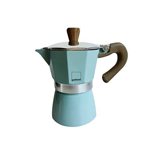 Gnali & Zani Venezia-Espressokocher Cafetera espresso, Aluminio, verde menta