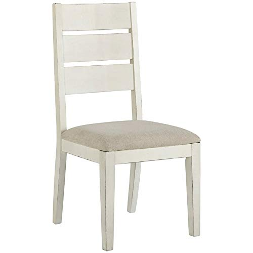 Bowery Hill Ladderback Dining Side Chair in White