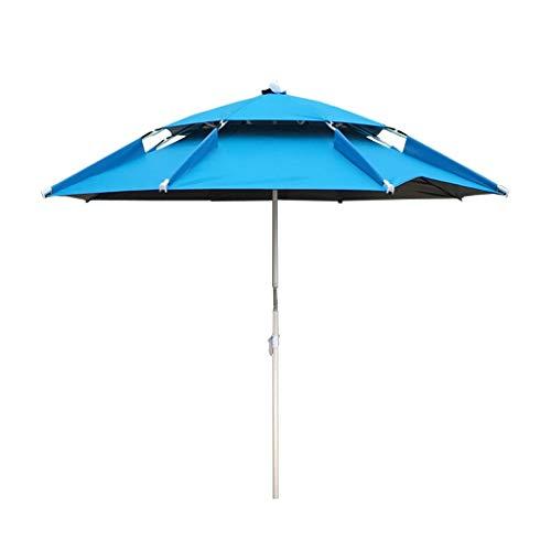 Klappbarer Sonnenschirm kann gekippt Werden Tragbarer Sonnenschirm (grün/blau) (Color : Blue)