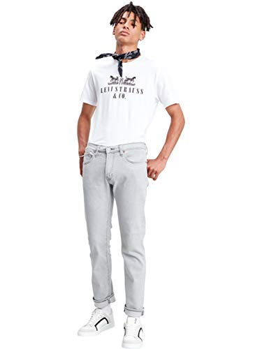 Levis® Herren Jeans Jeanshose 511® - Slim Fit - Grau - Bluegrey W30-W38 Stretchjeans 85% Baumwolle, Größe:W 32 L 30, Farbvariante:Bluegrey (4108)